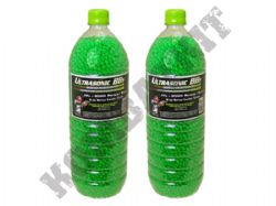 17000 x 6mm x 0.12g Clear Green Polished Airsoft BB Gun Pellets